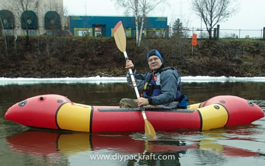 Bruce's Voyageur 2-Person DIY Packraft - First Float!