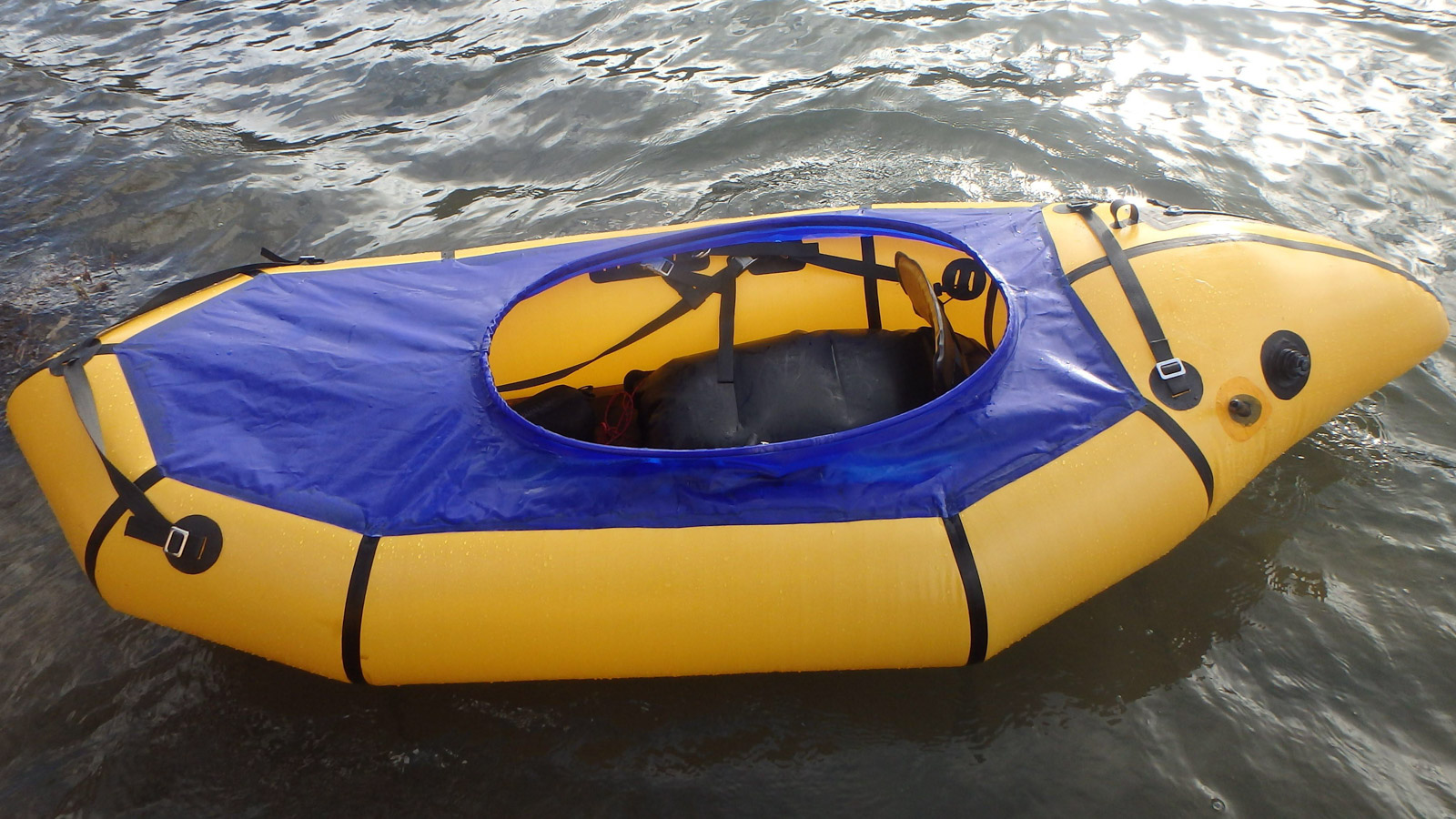 Add a Back Band, Thigh Straps, Spray Deck – DIY Packraft